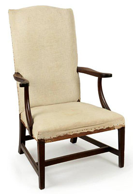 A Fine Chippendale Mahogany Lolling Chair, Newburyport or Portsmouth, circa 1785